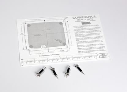 Picture of Lowrance Elite/Mark flush Mount Kit for 5inch models (000-10028-001) Each