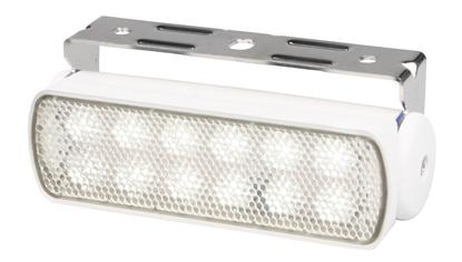 Picture of Sea Hawk LED Floodlight Spread White Light White Housing Bracket Mount (2LT 980 670-311) Each