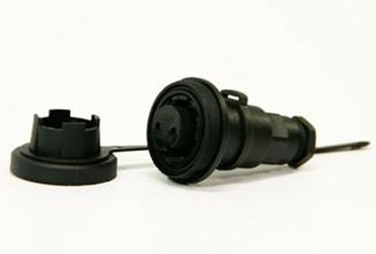 Picture of 50 Ohm IL Socket IP68 Bulgin DP c/w Caps & Screws (DPBNC50SIL) Each