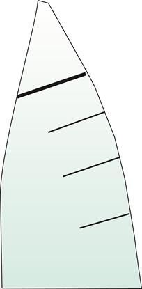 Picture of Dinghy Battens Top (45%) 15 x 1200mm (15D1200T45) Each