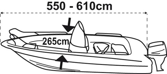 Picture of Boat Cover L 550-610cm W 265cm, Silver (O2226610) Each