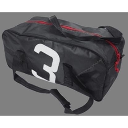 Picture of Sailcloth Sports Bag Medium Black 62 x 28 x 25cm - 35L (Leste M Black) Each