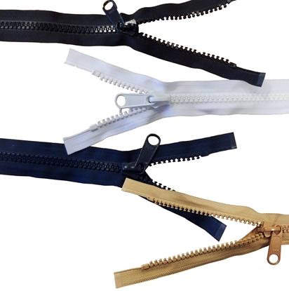 Picture of YKK® Vislon® Zip No.10 Black 1980mm (6.5ft) Long (626176/580) Each