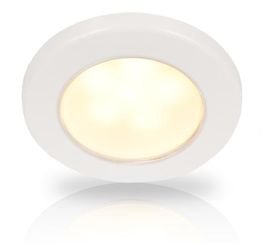Picture of EuroLED 75 Down Light Warm White Light 12V Screw Mount White Plastic Rim (2JA 958 109-011) Each