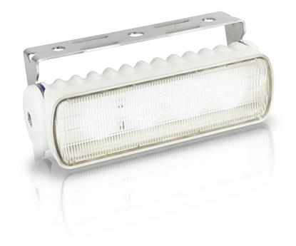 Picture of Sea Hawk-R LED Floodlight Spread White Light White Housing Bracket Mount (2LT 980 573-021) Each