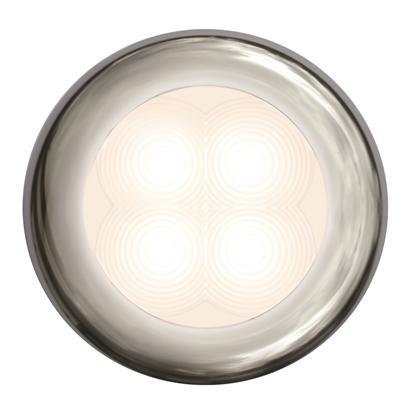 Picture of LED Slim Line Courtesy Lamp Round Warm White Light 12V Stainless Steel Housing (2XT 980 500-721) Each
