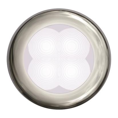 Picture of LED Slim Line Courtesy Lamp Round White Light 24V Stainless Steel Housing (2XT 980 501-521) Each