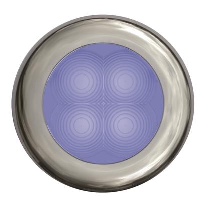 Picture of LED Slim Line Courtesy Lamp Round Blue Light 24V Stainless Steel Housing (2XT 980 503-221) Each