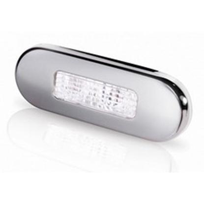 Picture of LED Courtesy Lamp Oblong White Light 12/24V Stainless Steel Housing (2XT 980 869-301) Each