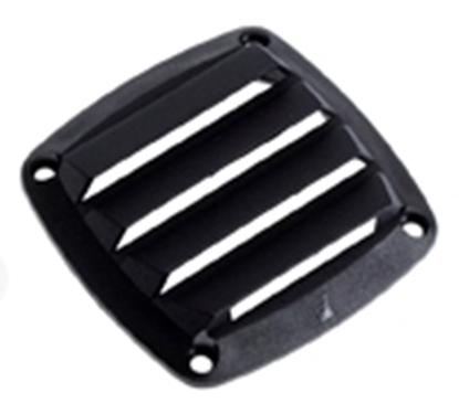 Picture of Ventilator Black PLST 125mm SQ. 4in (480812) Each