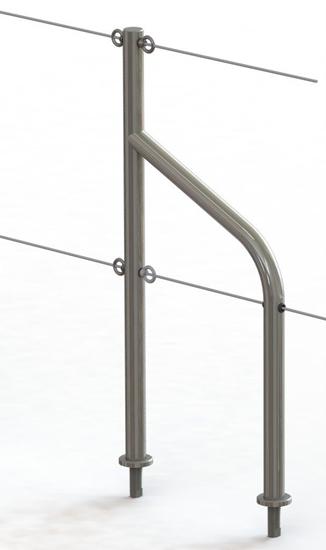 Picture of Gate Door 2 Guardrail Holes Spacing 280mm (105789) Each