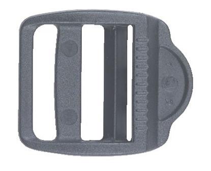 Picture of Ladderlock Buckle 15mm Webbing Black Acetal (LL15BKN) Each