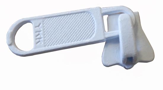 Picture of YKK® Slider No.5 Vislon® Single Metal White (8269/501) Each