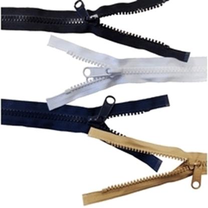 Picture of YKK® Vislon® Zip No.15 White 5000mm (16.42ft) Long (602881/501) Each