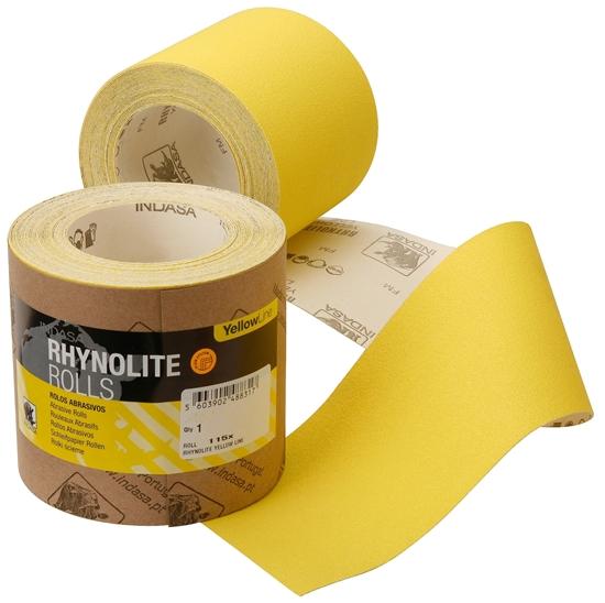 Picture of Rhynolite Yellowline 115mmx5m Sandpaper Roll P80 (C40184) Each