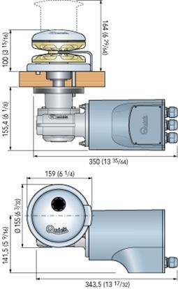 Picture of Rider 1000W 12V 10mm Vertical Windlass (FSR010120010A00) Each