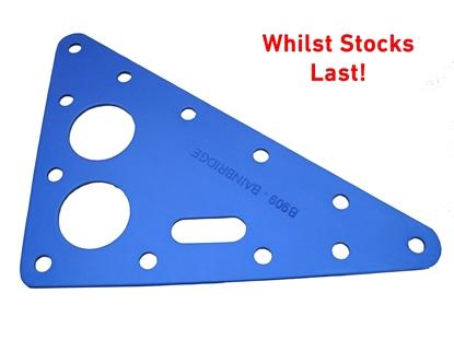 Picture of Headboard 102mm x 130mm x1.6mm Blue Anodised Aluminium (AHB04-130102N) Each