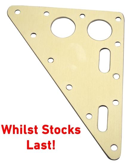 Picture of Headboard 115mm x 146mm x 3.2mm Gold Anodised Aluminium (AHB051-146115) Each