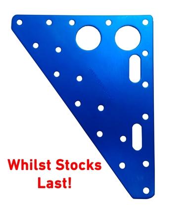 Picture of Headboard 133mm x 165mm x 3.2mm Blue Anodised Aluminium (AHB051-165133N) Each