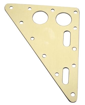 Picture of Headboard 153mm x 195mm x 3.2mm Gold Anodised Aluminium (AHB051-195153) Each