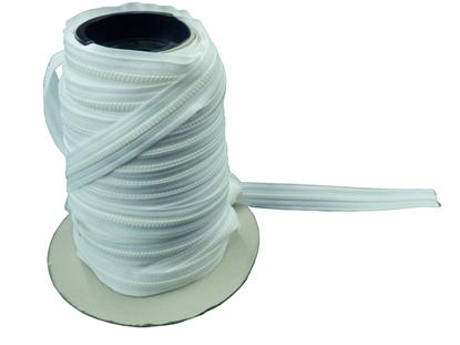 Picture of YKK® Vislon® Zip No.5 White Continuous 200m Reel (969088/501) Metre