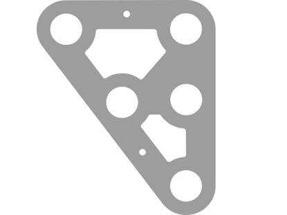 Picture of Headboard M 133 x 165 x 3mm Al 5083-H3 Dark Grey Anodised (HBA933GY) Each