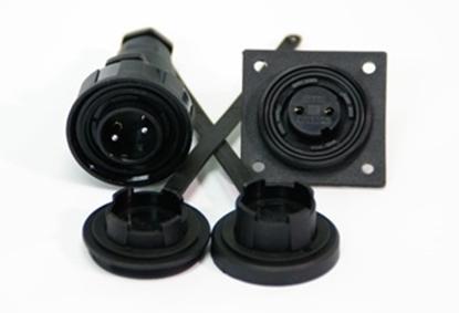 Picture of 2 Pin Plug & LF Socket Kit IP68 Bulgin DP c/w Caps & Screws (DP2) Each