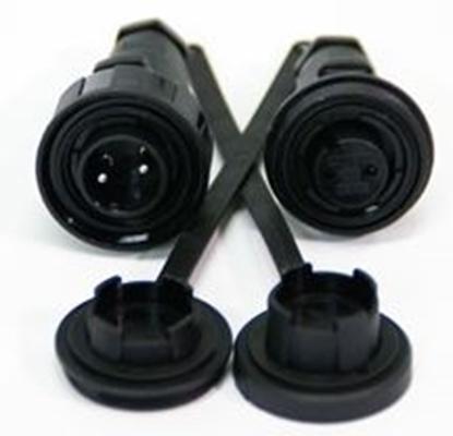 Picture of 2 Pin Plug & BH Socket Kit IP68 Bulgin DP c/w Caps & Screws (DP2BH) Each