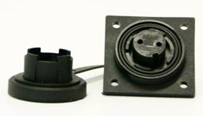 Picture of 2 Pin LF Socket IP68 Bulgin DP c/w Caps & Screws (DP2S) Each
