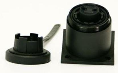 Picture of 2 Pin BH Socket IP68 Bulgin DP c/w Caps & Screws (DP2SBH) Each