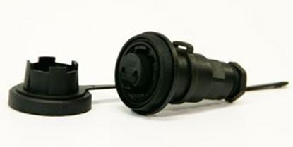 Picture of 2 Pin IL Socket IP68 Bulgin DP c/w Caps & Screws (DP2SIL) Each