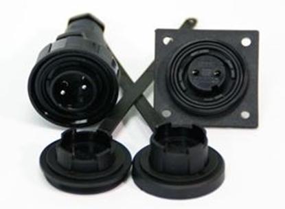 Picture of 4 Pin Plug & LF Socket Kit IP68 Bulgin DP c/w Caps & Screws (DP4) Each