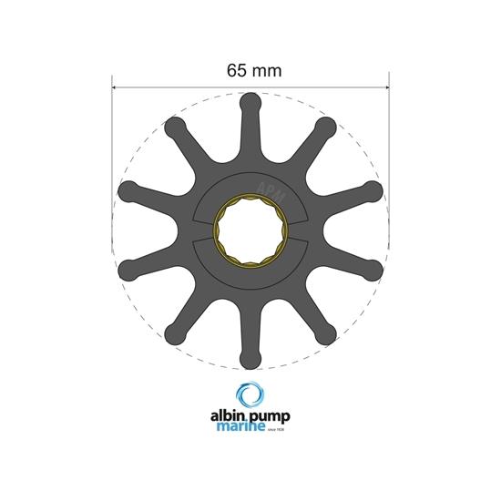 Picture of Premium Impeller Replaces JMP 7426-01 (06-02-023) Each
