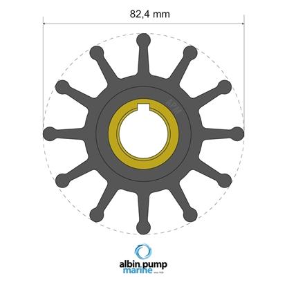 Picture of Premium Impeller Replaces JMP 7600-01 (06-02-025) Each