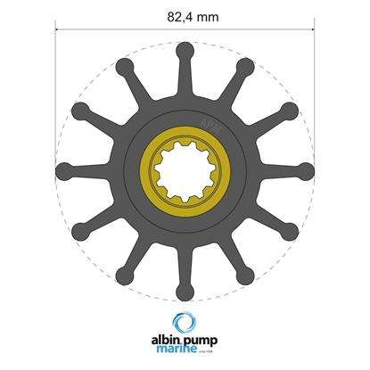 Picture of Premium Impeller Replaces JMP 7608-01 (06-02-026) Each