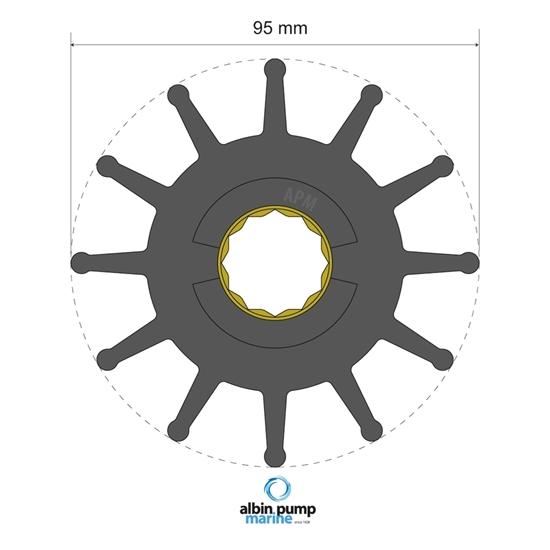 Picture of Premium Impeller Replaces JMP 8100-01 (06-02-028) Each