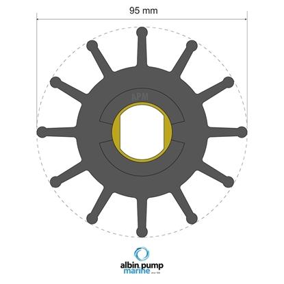 Picture of Premium Impeller Replaces JMP 8300-01 (06-02-030) Each