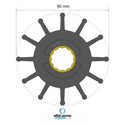 Picture of Premium Impeller Replaces JMP 8301-01 (06-02-031) Each