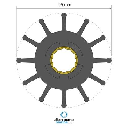 Picture of Premium Impeller Replaces JMP 8326-01 (06-02-032) Each