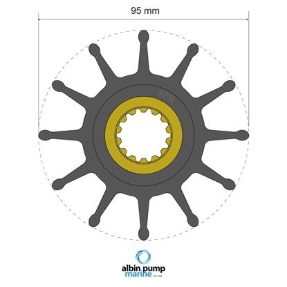 Picture of Premium Impeller Replaces JMP 8350-01 (06-02-033) Each