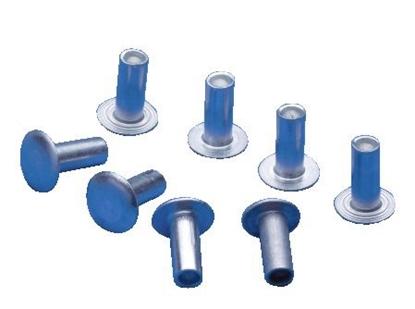 Picture of Aluminium Semi-Tubular Rivets 3.2 x 9.5mm (A7110-3.2x9.5mm) Pack 1000