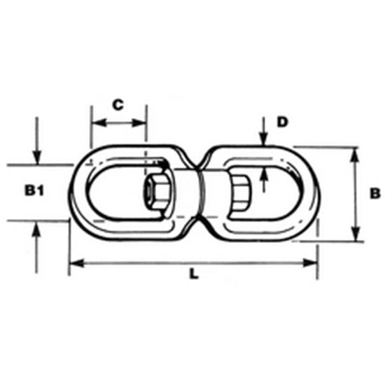 Picture of Swivel Eye/Eye AISI316 D 8mm x L 90mm (2701-0108) Each