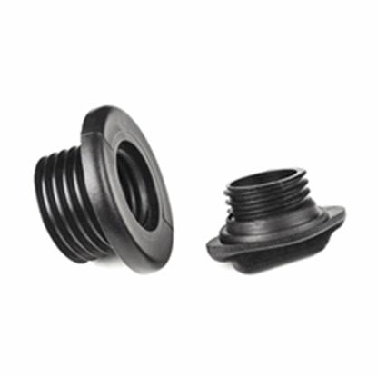 Picture of Drain Plug Screw In Body & Plug Black Nylon (20215) Each